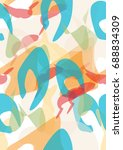 cover design. colored spots on... | Shutterstock .eps vector #688834309