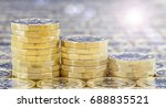 Golden Coins With Light Effect...