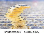 golden coins with light effects....