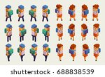 back to school  boy  girl.... | Shutterstock .eps vector #688838539