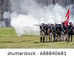 Revolutionary War reenactors at Guilford Courthouse, NC