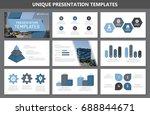 set of blue elements for...   Shutterstock .eps vector #688844671