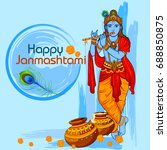 vector illustration of krishna... | Shutterstock .eps vector #688850875