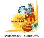 vector illustration of krishna... | Shutterstock .eps vector #688850947