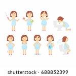 vector illustration signs of... | Shutterstock .eps vector #688852399