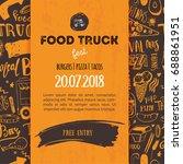street junk food festival menu...   Shutterstock .eps vector #688861951