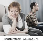 aged mother arguing with her... | Shutterstock . vector #688866271