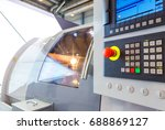 industrial equipment of cnc... | Shutterstock . vector #688869127