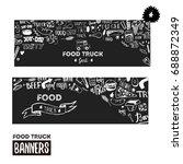 street food festival banner set.... | Shutterstock .eps vector #688872349
