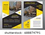 business brochure. flyer design....   Shutterstock .eps vector #688874791