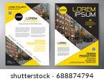 business brochure. flyer design.... | Shutterstock .eps vector #688874794