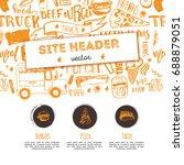 junk food restaurant vector... | Shutterstock .eps vector #688879051