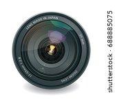 professional photo lens ... | Shutterstock . vector #688885075