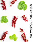 close up of fresh redcurrant ... | Shutterstock . vector #688885105