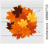 hello autumn background with... | Shutterstock .eps vector #688887715