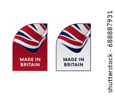 stickers made in great britain. ... | Shutterstock .eps vector #688887931