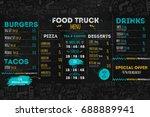 junk food festival menu...   Shutterstock .eps vector #688889941