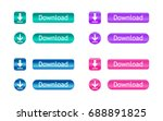 download buttons. set of... | Shutterstock .eps vector #688891825