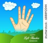 vector illustration of a banner ... | Shutterstock .eps vector #688892044