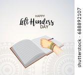 vector illustration of a banner ... | Shutterstock .eps vector #688892107