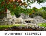 muyil mayan ruins in sian kaan... | Shutterstock . vector #688895821