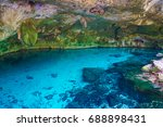 dos ojos cenote near tulum and... | Shutterstock . vector #688898431