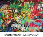 graffiti wall miscellaneous art | Shutterstock . vector #688899064