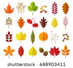 colorful autumn leaves and... | Shutterstock .eps vector #688903411