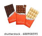 dark and milk candy chocolate... | Shutterstock . vector #688908595