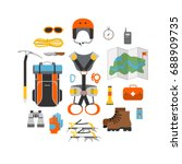 icon set flat design of modern... | Shutterstock .eps vector #688909735