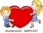 illustration of a boy and girl... | Shutterstock .eps vector #68891347