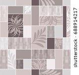 seamless ceramic tile with... | Shutterstock .eps vector #688914217