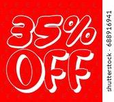35  off sale vector banner. 35  ... | Shutterstock .eps vector #688916941