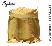 sack of soybeans. hand drawn... | Shutterstock .eps vector #688921165