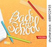 back to school vector... | Shutterstock .eps vector #688922935