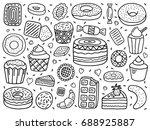 vector set of sweets | Shutterstock .eps vector #688925887
