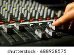 hand on a mixer  operating the... | Shutterstock . vector #688928575