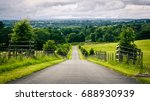 remote rural lane in the... | Shutterstock . vector #688930939