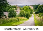 buildings nestled amongst trees ... | Shutterstock . vector #688930945