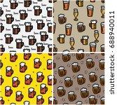beer seamless background for... | Shutterstock .eps vector #688940011