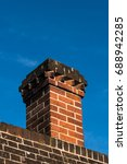 close up detail of red brick... | Shutterstock . vector #688942285