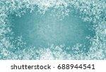 framed ice textured background | Shutterstock . vector #688944541