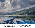Boats Jetty On Phewa Lake ...