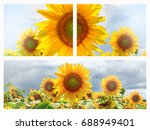 summer web banner or... | Shutterstock . vector #688949401