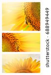 summer web banner or... | Shutterstock . vector #688949449