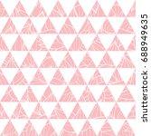 vector salmon pink triangles... | Shutterstock .eps vector #688949635