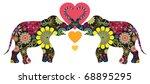 elephant love  animal love | Shutterstock .eps vector #68895295
