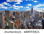 nyc with clouds   colorful... | Shutterstock . vector #688955821