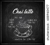hand drawn coffee illustration... | Shutterstock .eps vector #688960477