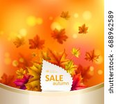 abstract autumn background.... | Shutterstock .eps vector #688962589